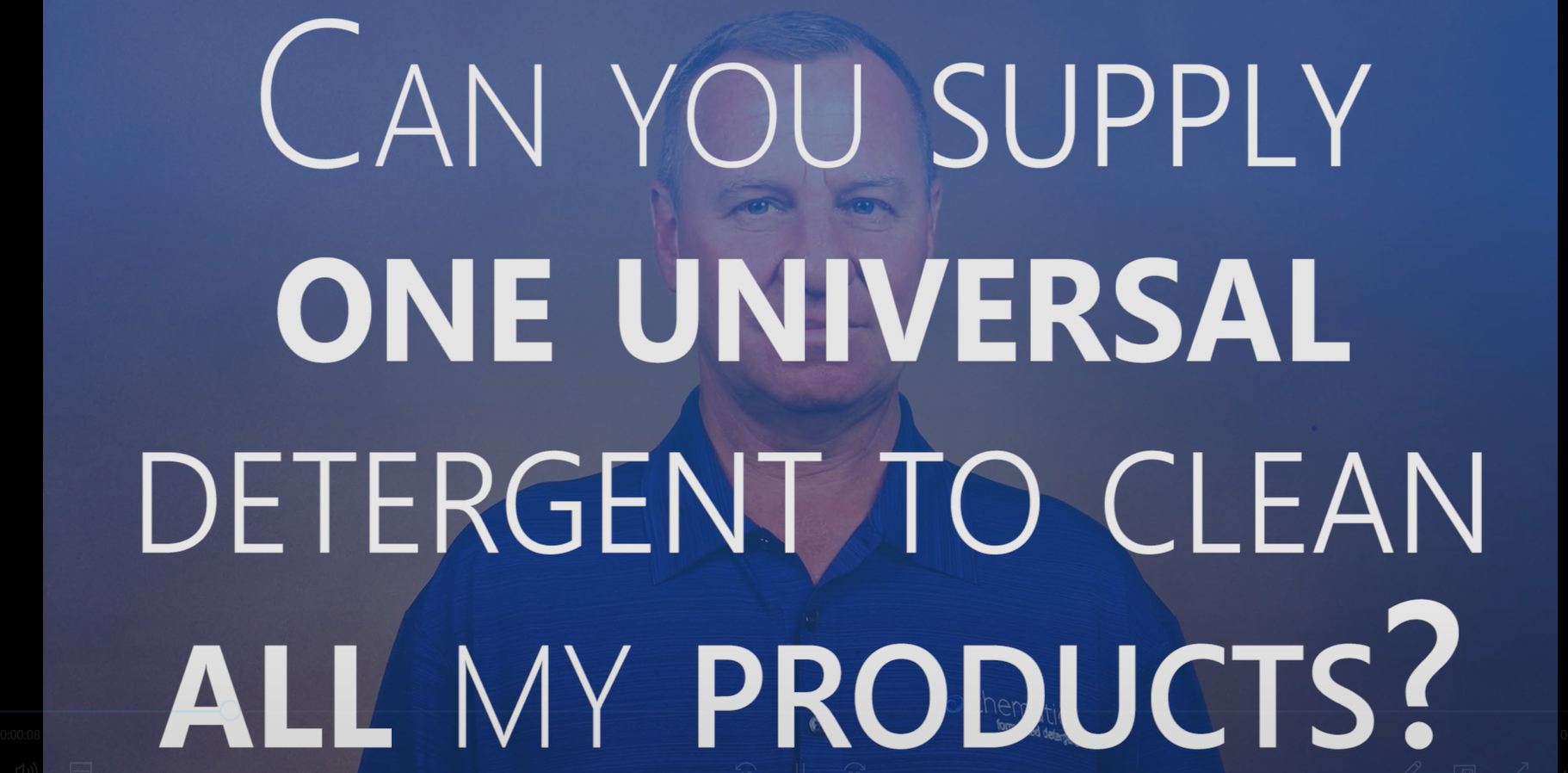 Can You Supply One Universal Detergent to Clean All of My Products?